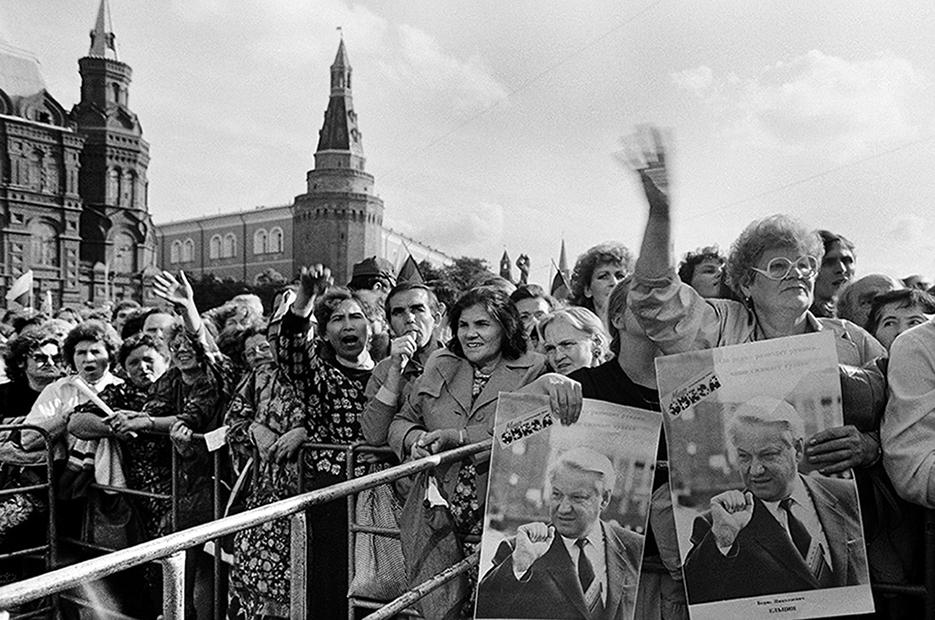 Comizio. Piazza del Maneggio, Mosca