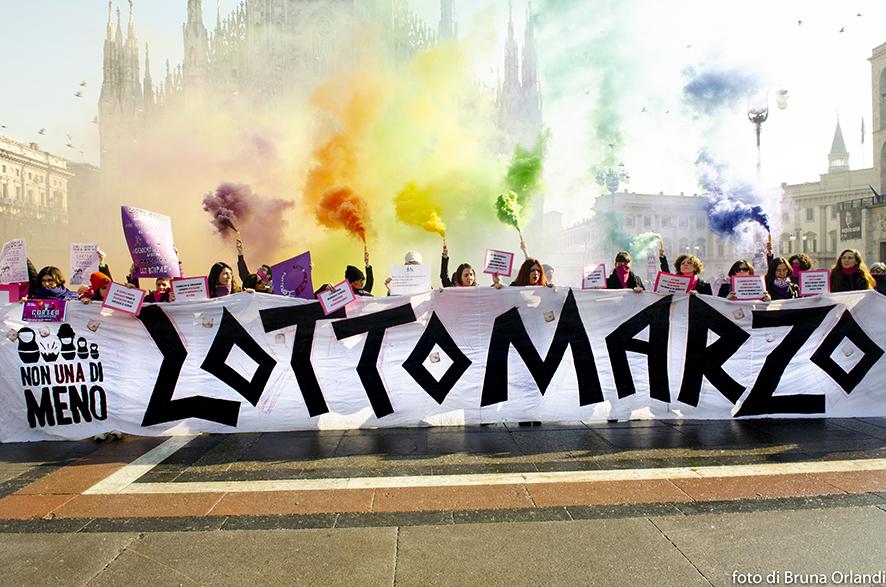 Manifestazione organizzata dalla rete Non Una di Meno